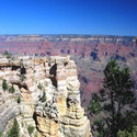 Another view from Mather Point, this one looking towards the north (and a secondary overlook)