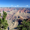 My very first glimpse of the Grand Canyon, from the Mather Point overlook