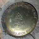 I don't have any idea what a triangulation station is, but this one was found embedded in the rocks at the Hopi Point overlook