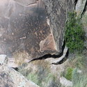 Newspaper Rock, which is covered in petroglyphs dating back meeeelions of years