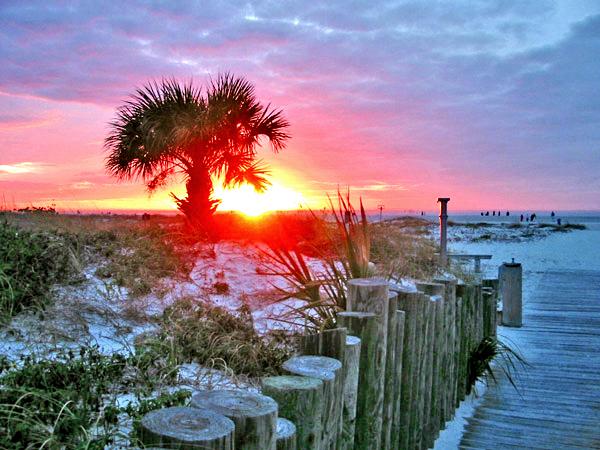 Modified sunset photo