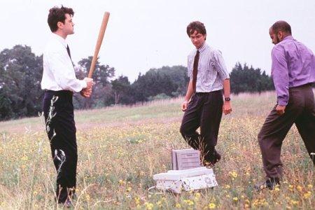 Ben is on the left, wielding his big bat